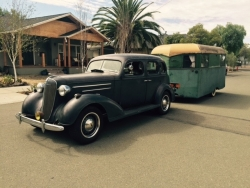 1936 Covered Wagon & Chevy