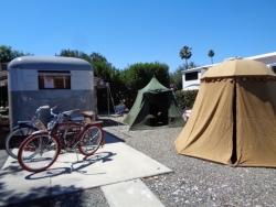 John & Phyllis' 1948 Westwood Coronado and Vintage Tents