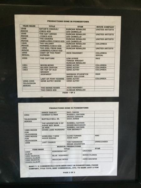 Movies Filmed in Pioneertown