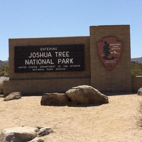 Entering Joshua Tree National Park