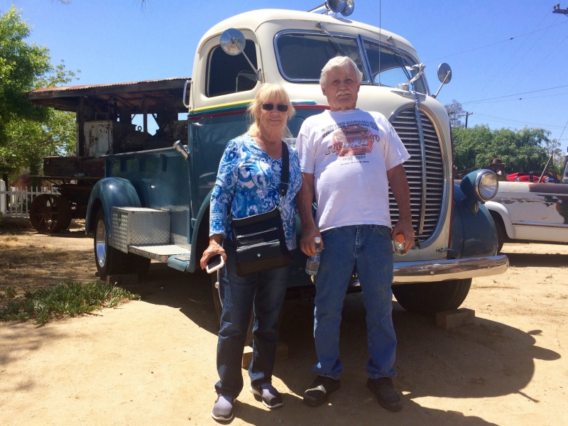 Dick & Shirley of Texas attend a nearby truck show