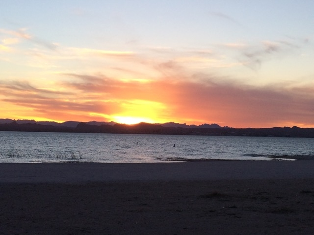 The beautiful sunsets at Lake Havasu