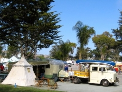 1917 King canoe, vintage tent, 1938 REO & 1950 Westcraft