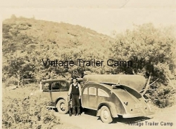 1940 canoe, teardrop trailer & auto photo