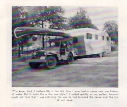1951 canoe, jeep & trailer