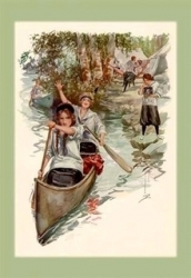 Early picture ladies canoeing