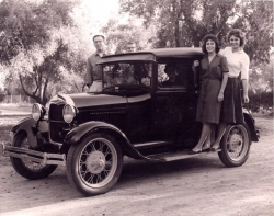 Chuck's 1928 Ford Sedan - picture c.1961
