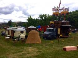 vintage tent at Calaveras County Fair
