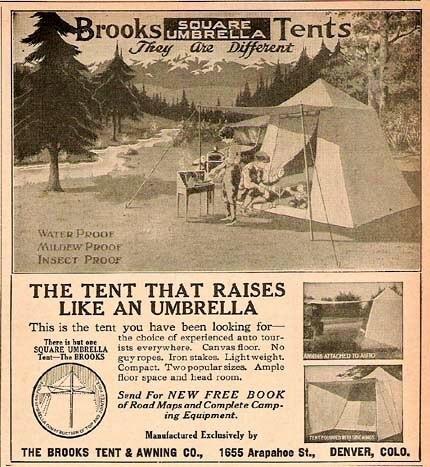 Brooks Square Umbrella Tent Advertisement  sc 1 st  Vintage Trailer C& & Vintage Tents - Vintage Trailer Camp