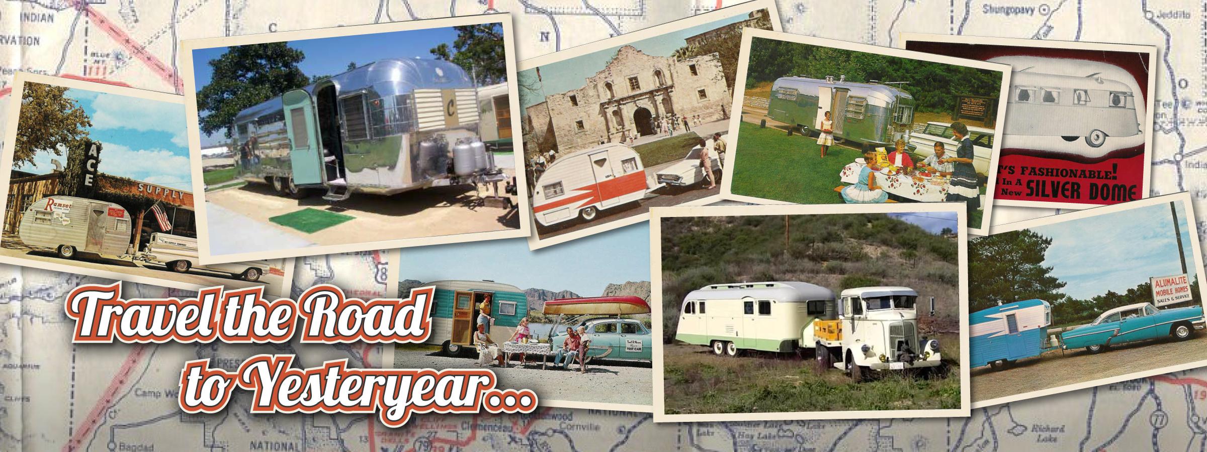 vintage trailer camp banner
