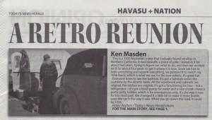 Lake Havasu Vintage Rally newspaper article