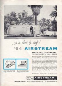 1954 may airstream trailer life
