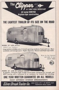 1954 may silver streak clipper trailer life