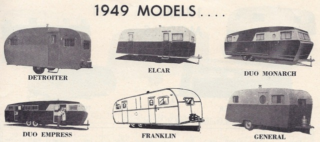 Trailers In 1949 Vintage Trailer Camp
