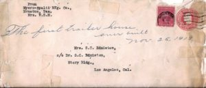trailer house 1919 envelope