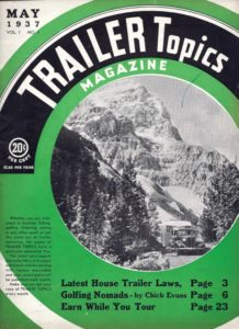 May 1937 Trailer Topics mag issus 1, no 1Western (Westcraft)