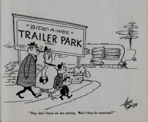 Trailer ways & Daze 1955 cartoons pages