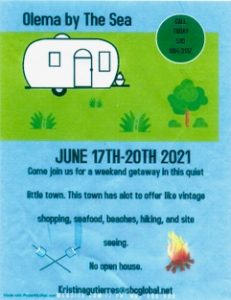 Olema by the Sea 2021 flyer Prototype